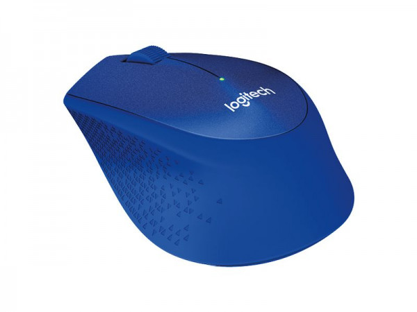 Logitech M330 Silent Plus, blau