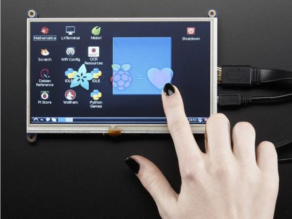 """Adafruit Monitor 7"""", zum Einbau, mit Touchscreen"""